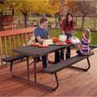 PIKNIK összecsukható asztal és sörpad barna