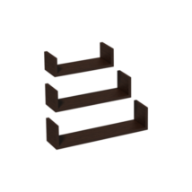 Fali polc U alakú wenge (3 db-os)