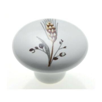 E039-26 búzakalász virág porcelán fogantyú