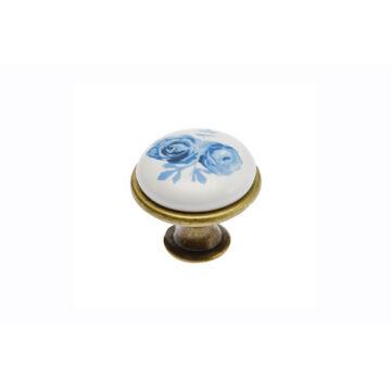 J4 kék rózsa porcelán fogantyú
