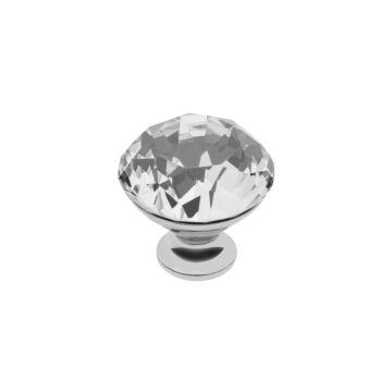 CRPB kristály fogantyú króm talppal 40 mm