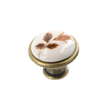 J4 barna virág porcelán fogantyú