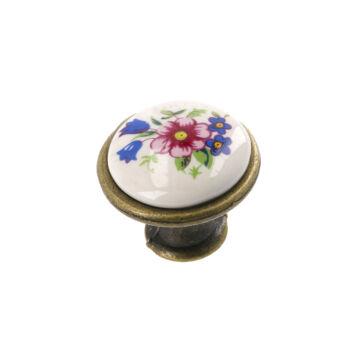 J4 tavaszi virág porcelán fogantyú