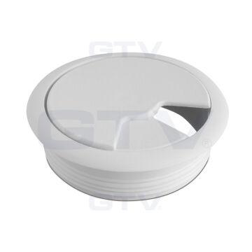 Szürke kábelkivezető műanyag 60 mm