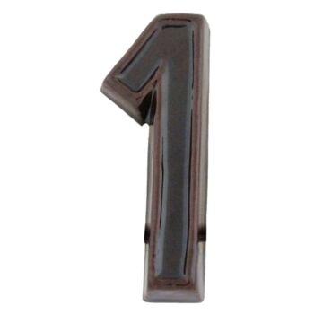 Kerámia barna házszám 1