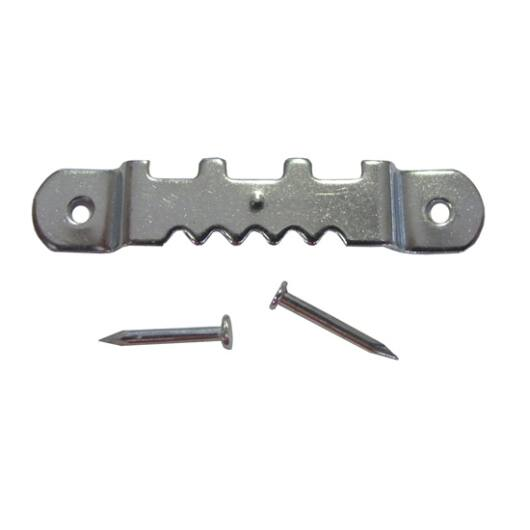 Fogazott képakasztó szeggel 40x6 mm