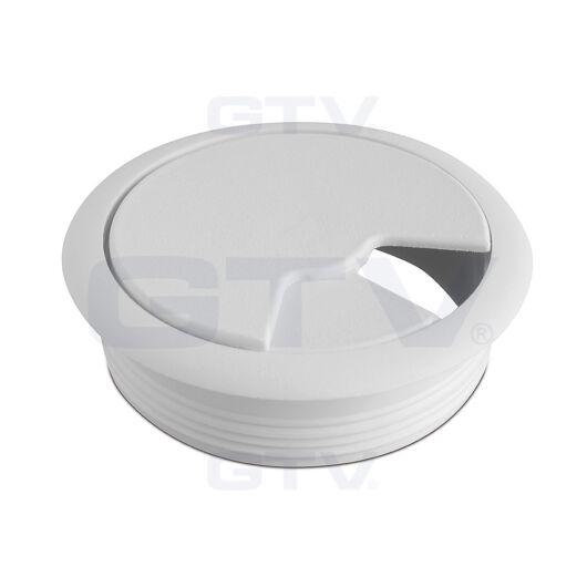 Fehér kábelkivezető műanyag 60 mm