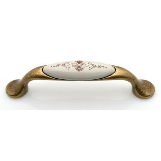 M10 antik firenze - barna motívum porcelán fogantyú