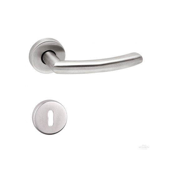 Gino ajtókilincs rozettás kulcslyukas inox