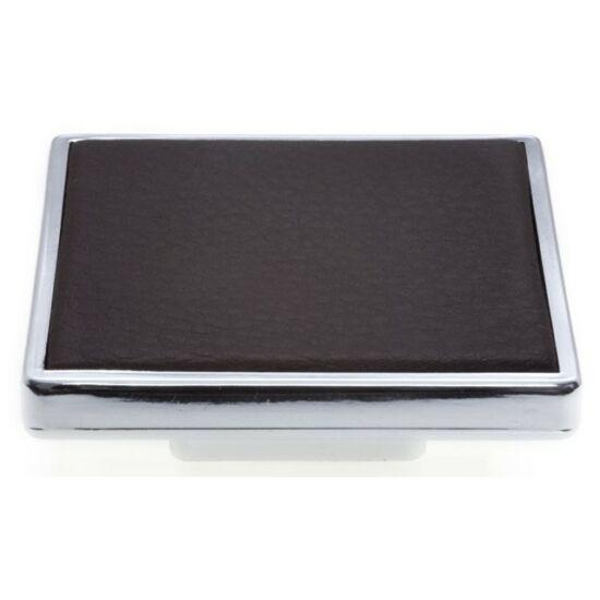 8151-60 barna-króm bőrhatású fogantyú