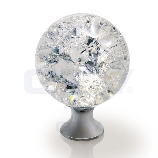 CRPC kristály fogantyú króm talppal 40 mm