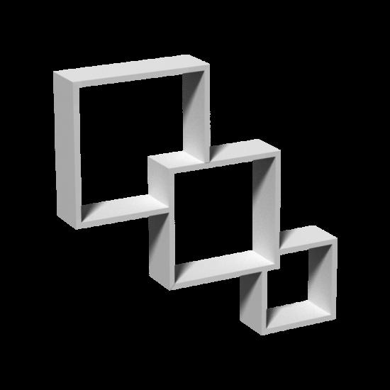 Fali összefonódó polc fehér