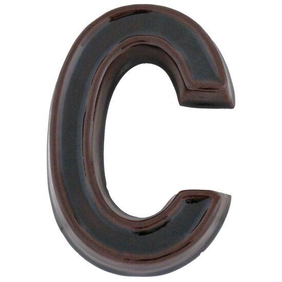 Kerámia barna házszám C