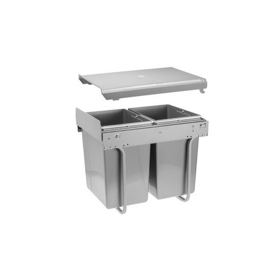 PRACTI ECO szelektív hulladékgyűjtő 400 mm szekrényhez