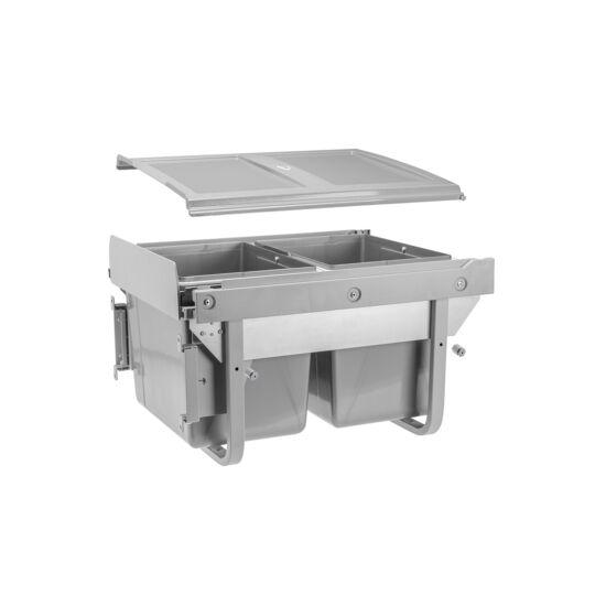 PRACTI ECO szelektív hulladékgyűjtő 450 mm szekrényhez konzollal, alacsony